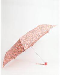 Cath Kidston Meadow Ditsy Print Umbrella - Red