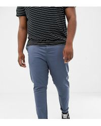 3031f0d44cdc New Look Plus Skinny Jeans With Side Stripe In Black Wash in Black ...