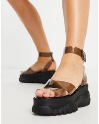 ASOS Toucan Chunky Flatform Sandals - Black
