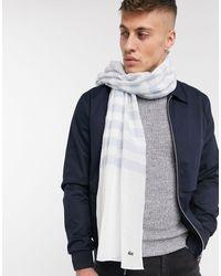 Lacoste Stripe Scarf - White