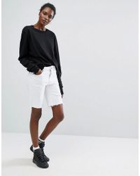 Liquor N Poker - Boyfriend Cut Off Shorts With Rips And Distressing - Lyst