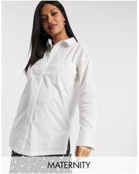 Missguided - Белая Поплиновая Рубашка С Широкими Манжетами -белый - Lyst