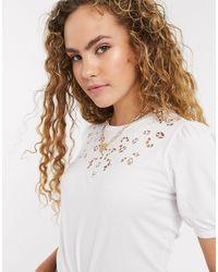 Warehouse Cutwork T-shirt - White