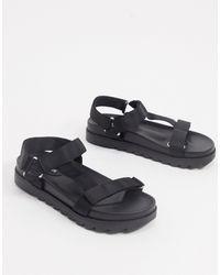 Glamorous Sporty Sandal - Black