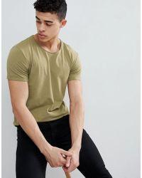 Esprit - Longline T-shirt With Raw Curved Hem - Lyst