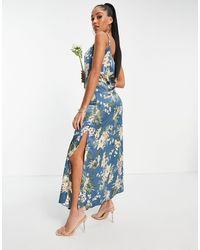 AX Paris Bridesmaid Cami Maxi Dress - Blue