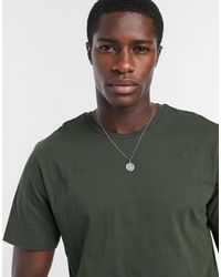 TOPMAN Slim T-shirt - Green