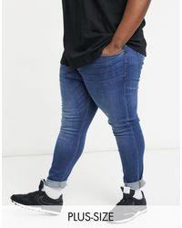 TOPMAN Organic Cotton Big & Tall Super Skinny Jeans - Blue
