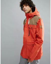 Quiksilver - Raft Ski Jacket In Ketchup Red - Lyst