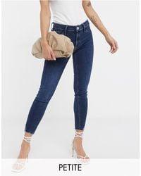 River Island Molly Raw Hem Skinny Jeans - Blue