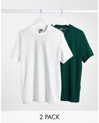 ASOS T-shirt With Crew Neck - Green
