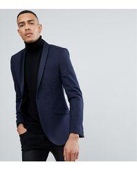 Heart & Dagger - Tall Skinny Printed Wool Mix Tux Blazer - Lyst