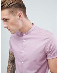 74c70ebf535 ASOS Regular Fit Western Denim Shirt In Dusty Pink in Pink for Men ...
