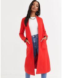 Helene Berman Edge To Edge Duster Coat - Red