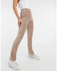 Pieces High Waisted Trouser - Natural