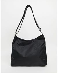 ASOS Slouchy Cross Body Saddle Bag - Black