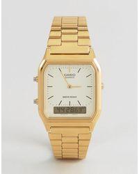 G-Shock Aq-230ga-9dmqyes Digital Bracelet Watch - Metallic