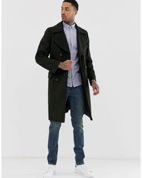 Tommy Hilfiger Длинное Двубортное Шерстяное Пальто -черный