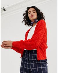 Vero Moda Vest Met V-hals En Knopen Aan De Voorkant - Rood