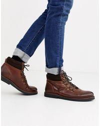 Dune Кожаные Светло-коричневые Походные Ботинки На Массивной Подошве -коричневый
