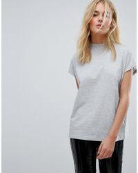 Weekday - High Neck T-shirt - Lyst
