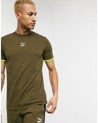 PUMA TFS - T-shirt avec logo centré - Kaki - Vert