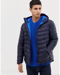 Esprit Puffer With Hood - Blue