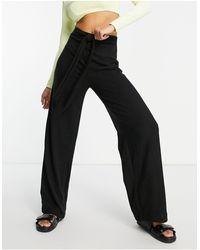Lipsy Pantalones s - Negro