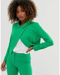 UNIQUE21 Укороченная Куртка -зеленый
