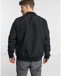 Hollister Черная Легкая Куртка-бомбер Из Нейлона -черный Цвет