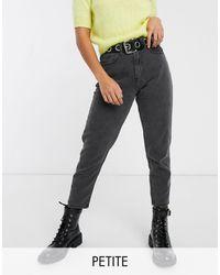 Noisy May Mom jeans alla caviglia neri - Nero