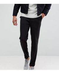 SELECTED - Tall Tapered Cropped Jersey Trousers - Lyst