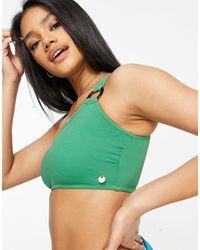 Whistles – Strukturiertes Bikinioberteil - Grün