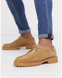 H by Hudson Sledge Desert Lace Up Shoes - Natural