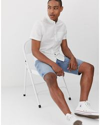 Burton Short Sleeved Oxford Shirt - White