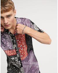 Criminal Damage Bandana Print Shirt - Multicolour