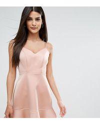 River Island Платье Мини С Оборкой На Подоле - Многоцветный