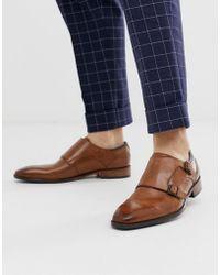 Goodwin Smith Светло-коричневые Кожаные Туфли-монки С Ремешками - Многоцветный