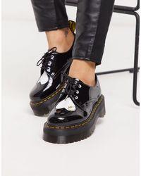 Dr. Martens Черные Туфли На Массивной Подошве X Hello Kitty-черный