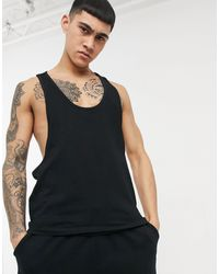 ASOS Camiseta con espalda - Negro
