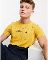 Jack & Jones Желтая Футболка В Стиле Колор Блок С Логотипом Originals-желтый