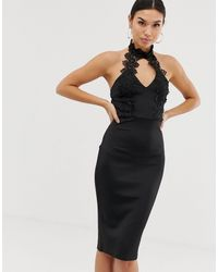 AX Paris Cut Out Detail Midi Dress - Black
