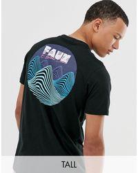 Friend or Faux Tall - T-shirt con onde di tensione sul retro - Nero