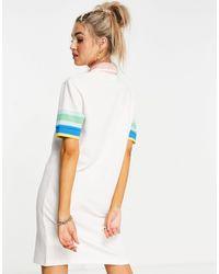 Lacoste Polo Dress With Colour Panels - Multicolour