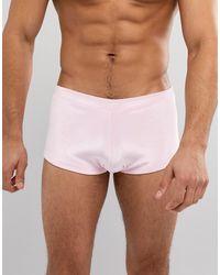 ASOS ASOS - Pantaloncini da bagno a vita bassa rosa