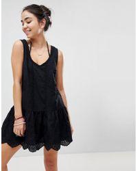 MINKPINK - Gardenia Tiered Mini Beach Dress - Lyst