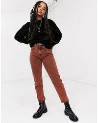 ASOS Ritson Original Mom Jeans - Orange