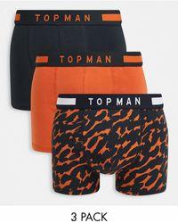 TOPMAN Набор Из 3 Боксеров-брифов С Логотипом На Поясе -многоцветный