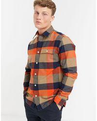 SELECTED Рубашка Навыпуск С Ворсом Оранжевого Цвета В Клетку -оранжевый Цвет - Многоцветный