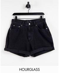 ASOS Shorts vaqueros con lavado negro